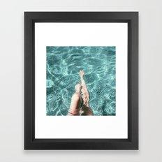 Pool Legs Framed Art Print