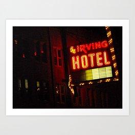 The Irving Park Hotel ~ Chicago Noir ~ Vintage Neon Sign Art Print