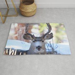 Watercolor Deer, Mule 13, RMNP, Colorado, Buuuuurp Rug