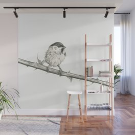 Milk-Warm Mewling of Chickadees Wall Mural