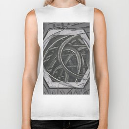 Junction - hexagon graphic Biker Tank