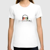 radio T-shirts featuring Radio Birds by Eric-Bird