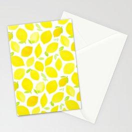 Beautiful Lemon Pattern Stationery Cards
