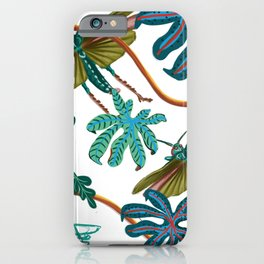 Grasshoppers and flowers iPhone Case