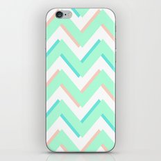 3D CHEVRON MINT/PEACH/TEAL iPhone & iPod Skin