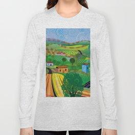 Santa Barbara Wine and Cheese (Square) Long Sleeve T-shirt