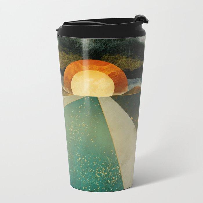 Retro Sunset Metal Travel Mug