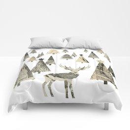 Winter Woods, collage Comforters