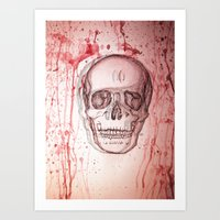 palo alto Art Prints featuring Palo Skull by katimarco