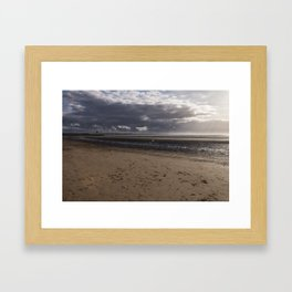 Dark clouds and clear sky Framed Art Print