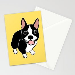 Happy Boston Terrier Stationery Cards