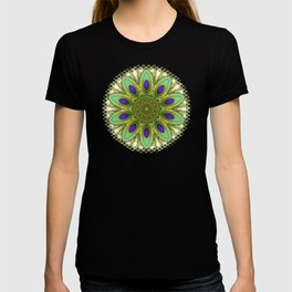 Peacock Healing Light Mandala T-shirt