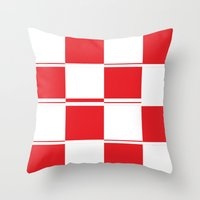 formula 1 Throw Pillows featuring FORMULA 1 by Michelito