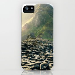 Madeira stone path leading into the mountains iPhone Case