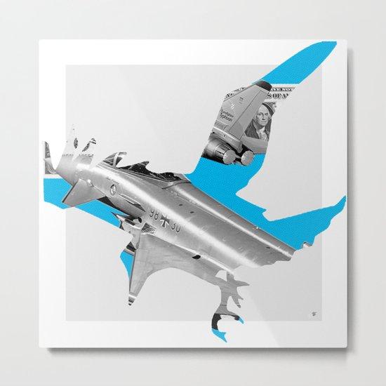 Blue Bomber Bird · StahlHart Metal Print
