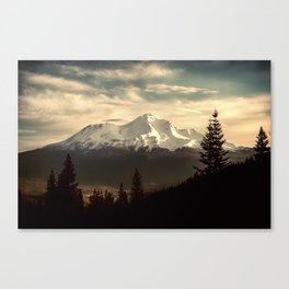 Mount Shasta Waking Up Canvas Print