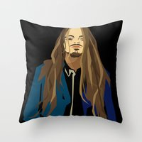 gangster Throw Pillows featuring Gangster by Elena Medero