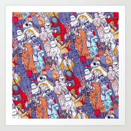 Smaller Space Toons in Color Art Print