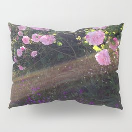 Pink roses and sunshine Pillow Sham