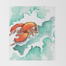 The Lobster Throw Blanket