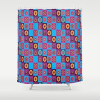 chess Shower Curtains featuring Chess  by MinaSparklina