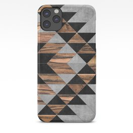 Urban Tribal Pattern No.10 - Aztec - Concrete and Wood iPhone Case