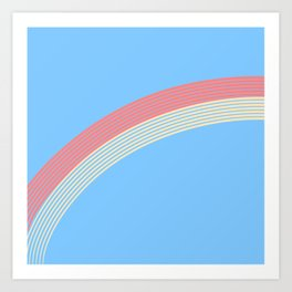 rainbow stripe 10 Art Print