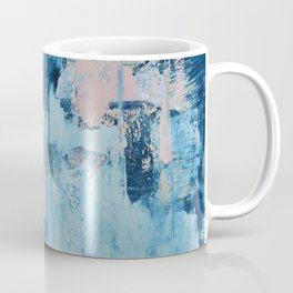 Sunbeam: a pretty abstract painting in pink, blue, and gold by Alyssa Hamilton Art Coffee Mug