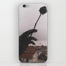PHOTOGRAPHY- rose and rain iPhone Skin