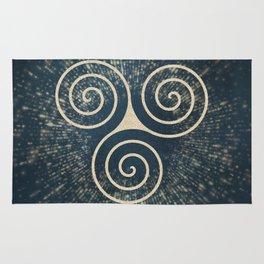 Triskelion Golden Three Spiral Celtic Symbol Rug