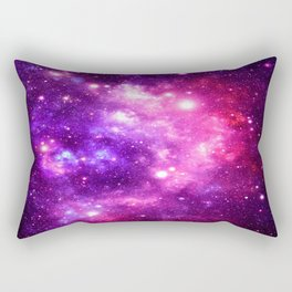 Purple Pink Galaxy Nebula Rectangular Pillow