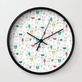 Summer outline Wall Clock