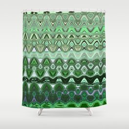 ZIG ZAGGING THROUGH THE EIGHTH UNIVERSE Shower Curtain