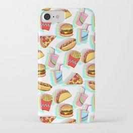 Rainbow Fast Food iPhone Case