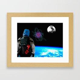 Space Bär.. Framed Art Print