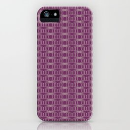 Hopscotch hex-Plum iPhone Case