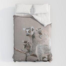 RINGTAILED LEMUR FAMILY by Monika Strigel Comforters