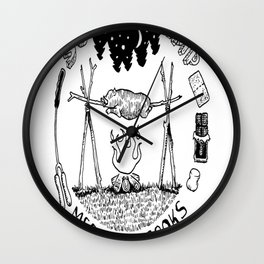 Summer Camp Mess Hall Cooks Wall Clock