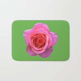 bed of roses: hot pink, neon green Bath Mat