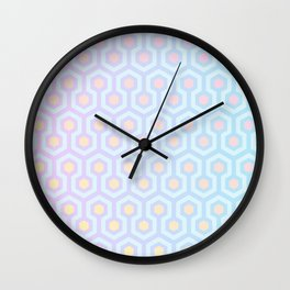 Magical Unicorn Oil Spill Pastel Coloured Geometric Pattern Wall Clock