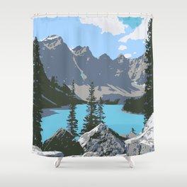 Moraine Lake- A Mountain Landscape Dream Shower Curtain
