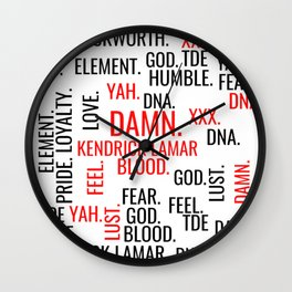 Kendrick Lamar Tracklist Damn. Wall Clock