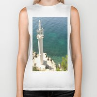 lighthouse Biker Tanks featuring Lighthouse by Bitifoto