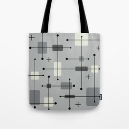 Rounded Rectangles Squares Gray Tote Bag