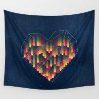interstellar Wall Tapestries featuring Interstellar Heart II by VessDSign