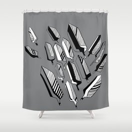 InSearch Feather Shower Curtain