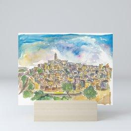 Matera Basilicata Italy Sassi View Mini Art Print