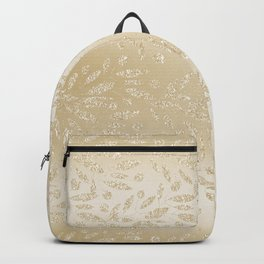 Luxury ivory glam gold glitter gradient floral Backpack