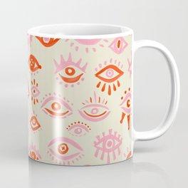 Mystic Eyes – Pink & Red Coffee Mug