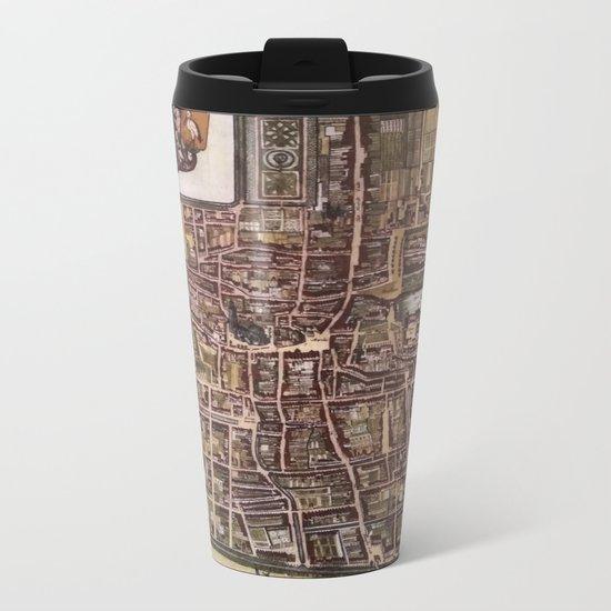 Replica city map of The Hague 1649 Metal Travel Mug
